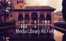 「Media Library Alt Fields」とスペイン・アルハンブラ宮殿の庭