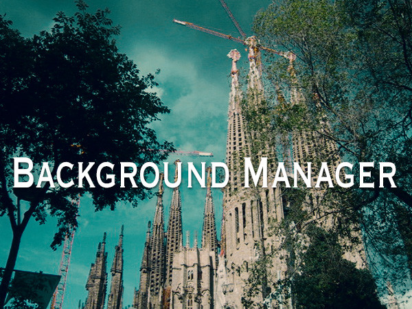 Background Manager」のキャッチ画面