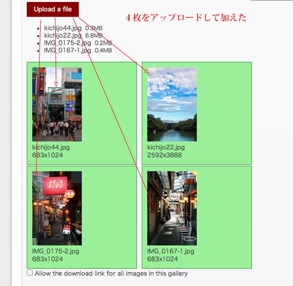 WordPressプラグイン「Gallery」の設定02