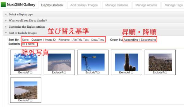 NextGEN-Galleryの使い方・設定13